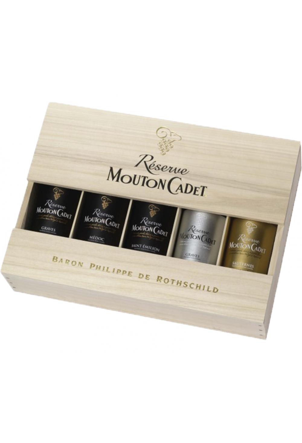 R 233 Serve Mouton Cadet Baron Philippe De Rotschild Coffret De 5 Bouteilles Bordeaux