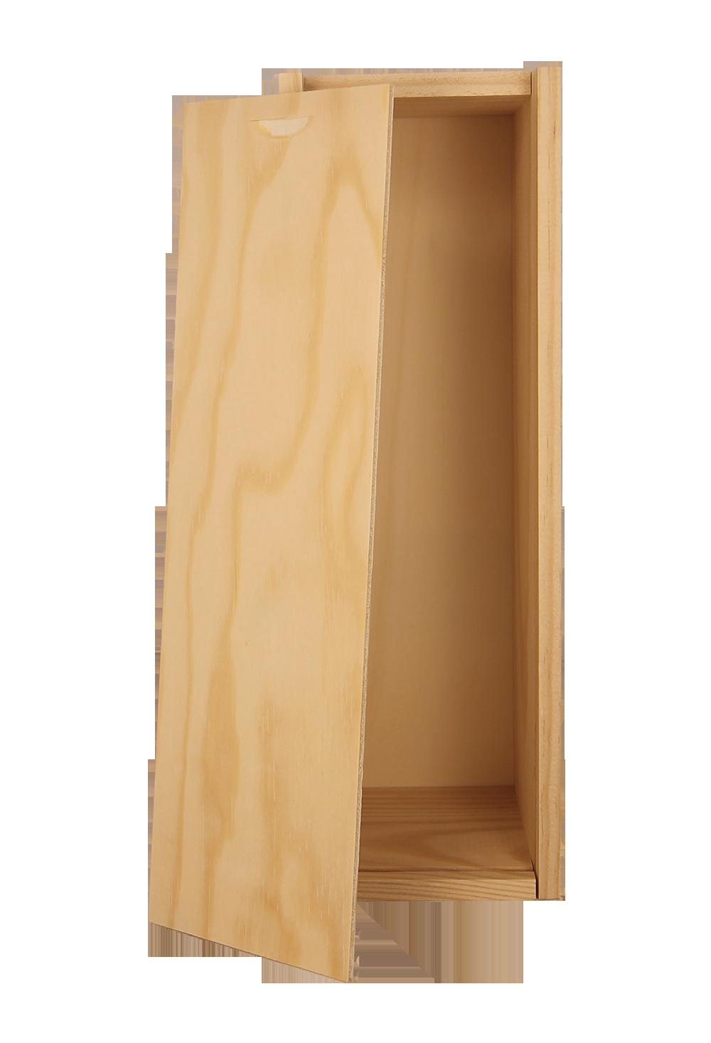 caisse bois vide - 1 bouteille - les caves